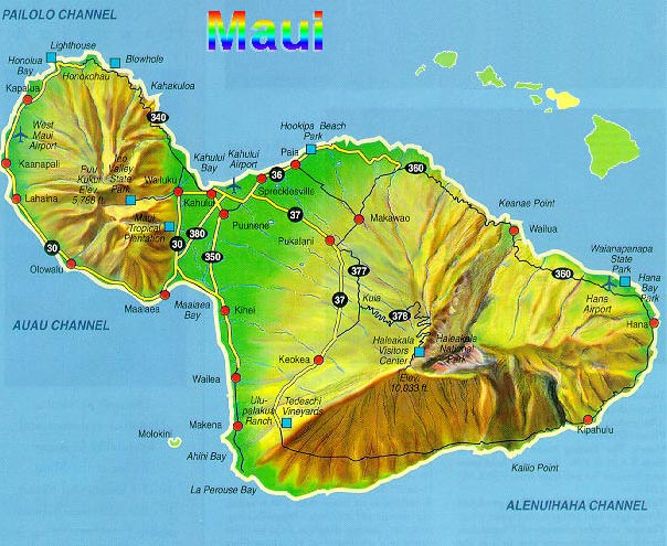 ISLAND OF LANAI ENLARGED MAP