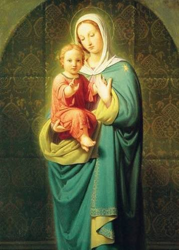 EXPAND CHRISTMAS IMAGE OF JESUS CHRIST MOTHER MARY