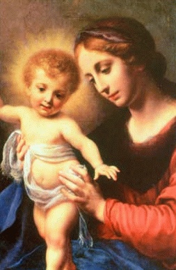 EXPAND CHRISTMAS IMAGE OF JESUS CHRIST & MOTHER MARY
