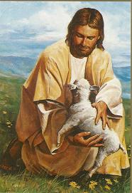 PICTURE OF JESUS WITH SHEEP PAINTING