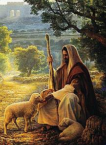 JESUS THE GOOD SHEPHERD ART PAINTING