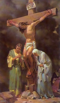 ROMAN CRUCIFIXION JESUS CRUCIFIED II PAINTING