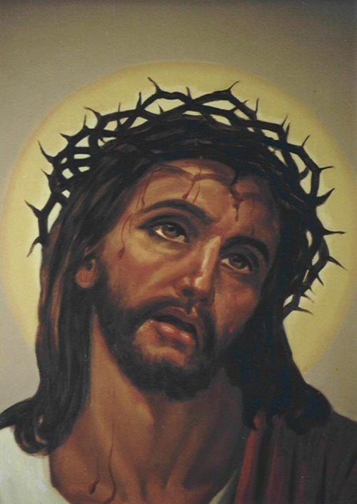 CROWN OF THORNS JESUS CRUCIFIXION OF CHRIST PAINTING