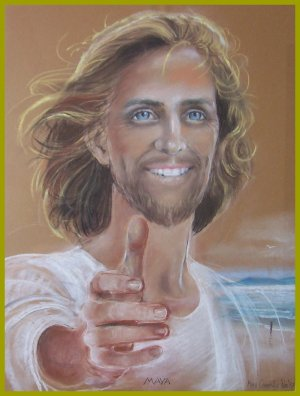 PAINTING OF JESUS SMILING