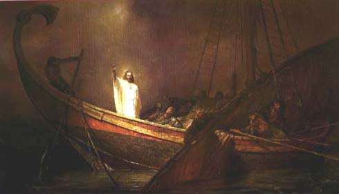 JESUS CALMS THE SEA PAINTINGS