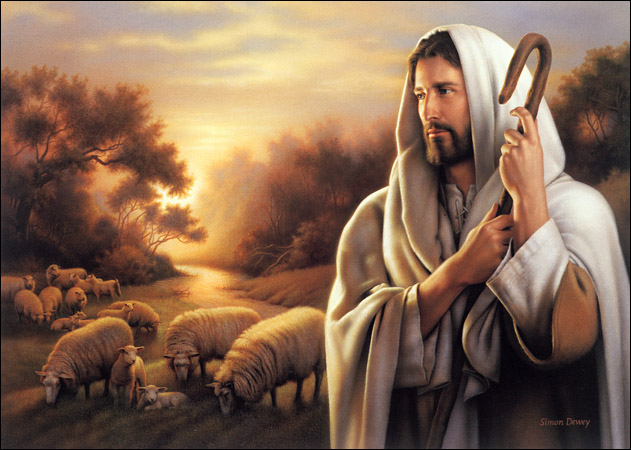 JESUS THE GOOD SHEPHERD PAINTING