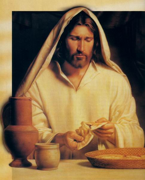 JESUS BREAKING BREAD PICTURES OF JESUS ART