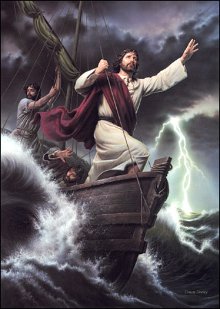 JESUS CALMS THE SEA PAINTINGS II