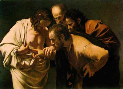 DOUBTING THOMAS THE APOSTLE OF JESUS PAINTING