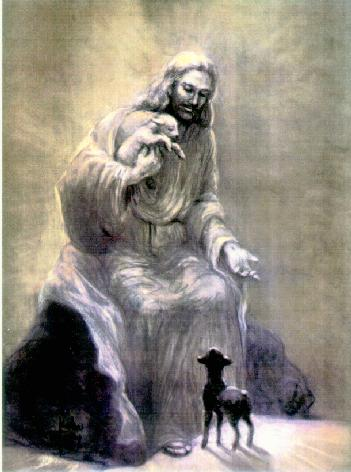 THE SHEEP SHEPHERD JESUS PAINTING