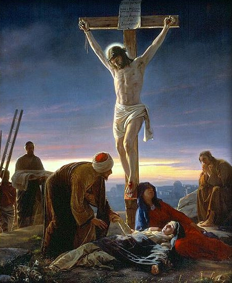 ROMAN CRUCIFIXION JESUS CRUCIFIED PAINTING