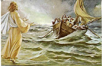 JESUS CALMS THE SEA PAINTINGS III