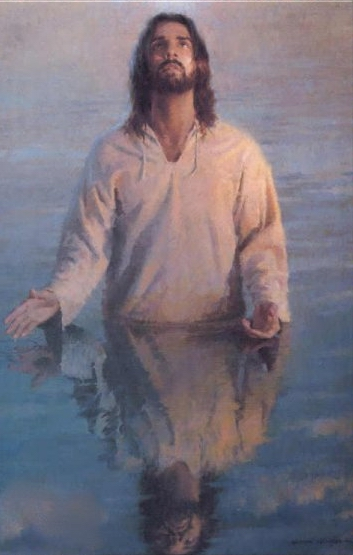 WATER BAPTISM PICTURES OF JESUS ART IMAGE