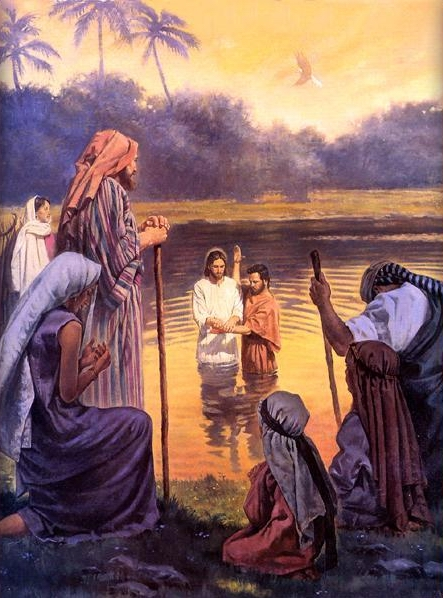 HOLY SPIRIT BAPTISM PICTURES OF JESUS ART