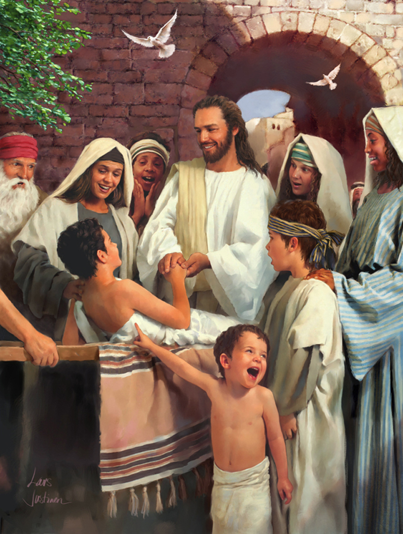 JESUS HEALS THE LITTLE CHILDREN OF THE WORLD