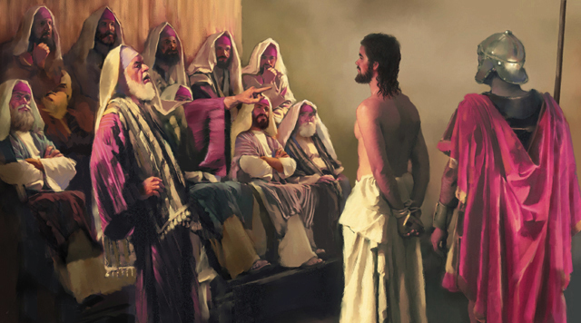 JESUS TRIAL JESUS IS CONDEMNED ART