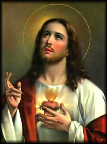 PAINTINGS OF JESUS SACRED HEART ART III