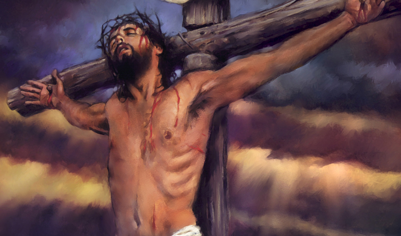 JESUS ON THE CROSS PAINTING