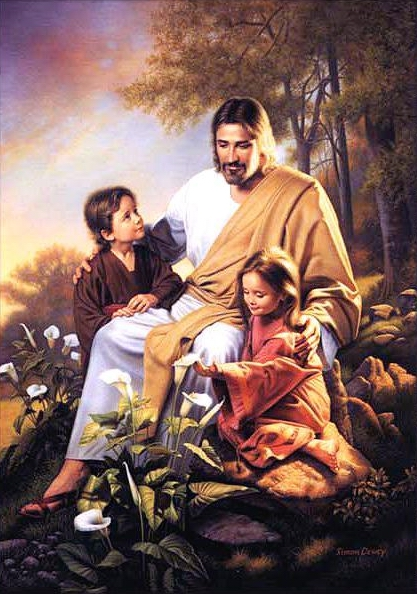pictures of jesus with children. Clip art of jesus with