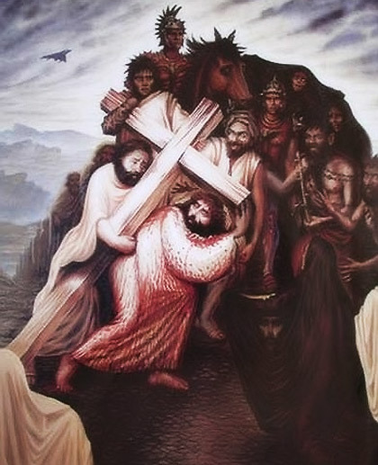 JESUS CHRIST OPTICAL ILLUSION III ART