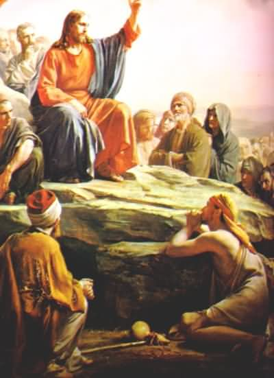 JESUS APOSTLES SERMON ON THE MOUNT PAINTING
