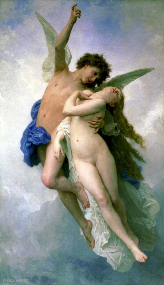 CUPID AND PSYCHE DEPARTURE IN LOVE ANGELS