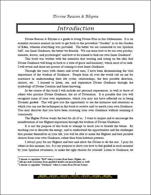 Divine Reason & Rhyme introduction page 1
