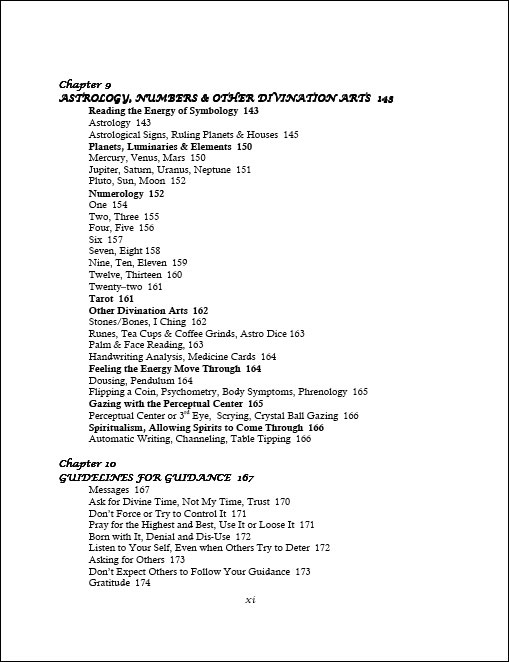 Divine Reason & Rhyme table of contents page 5