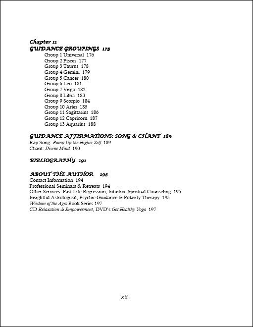 Divine Reason & Rhyme table of contents page 6